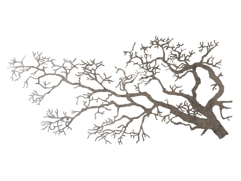 Tree branch of metal, wall decoration