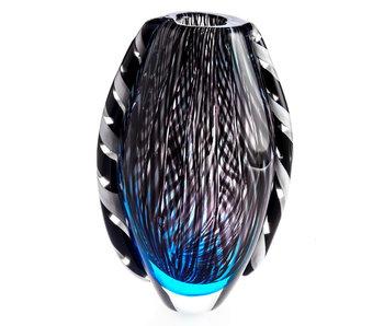 Glass vase Raw Wave
