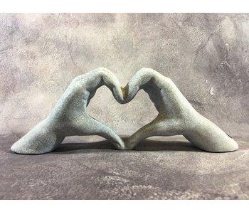 Hart symbool Liefde - beton-look