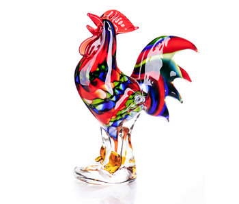 Rooster - glass artwork