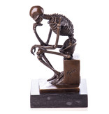 Real bronze skeleton statue after Rodin's The Thinker - Milo