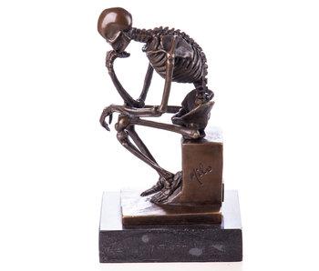 Skeleton bronze Thinker - Milo