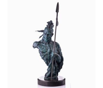 Indiaan borstbeeld Mohikaan - brons