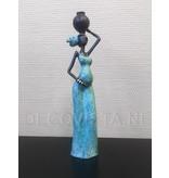 African Art African woman bronze - from Burkina Faso
