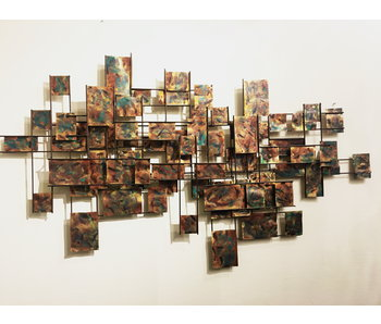 C. Jeré - Artisan House Wandsculptuur of wanddecoratie Vintage  Grid