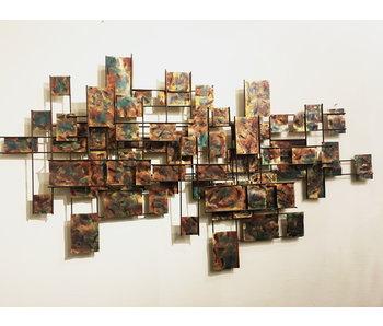 C. Jeré - Artisan House Wandsculptuur Vintage  Grid  Labyrinth