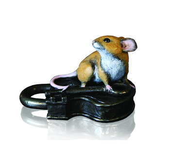 Mouse on an old padlock