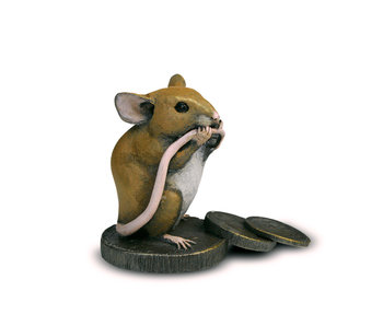 Mouse on coin stack