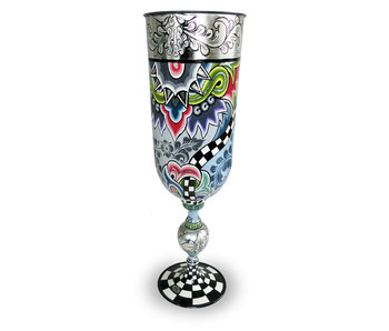Toms Drag Vase or Cup  XL - Silver Line
