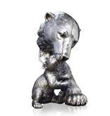 Polar bear sculpture with a cub