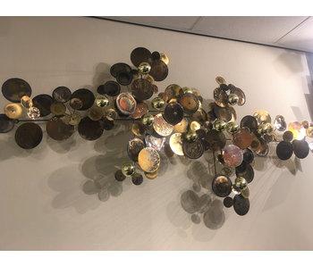 C. Jeré - Artisan House Wandsculptuur Raindrops Brass - L