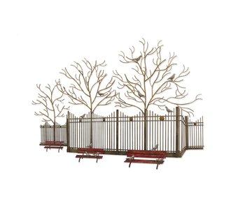 C. Jeré - Artisan House Park Bench wanddecoratie of wandsculptuur