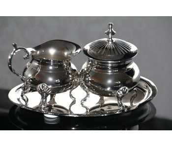 Baroque House of Classics Milk and sugar set with tray