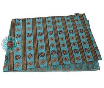 BoHo Tafelloper Peru Stripes Turquoise - 45 x 200 cm