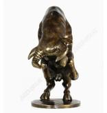 Figur aus Bronze, tobenden Bullen