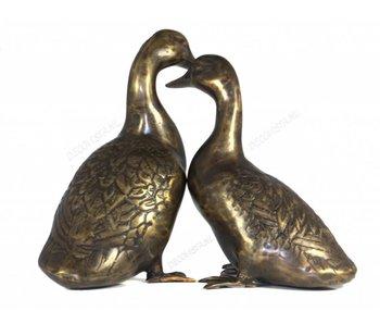 Eendenpaar van brons