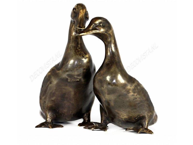 Entenpaar aus Bronze