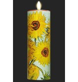 Mouseion Cylindrical tea light with the Sunflowers by Vincent Van Gogh