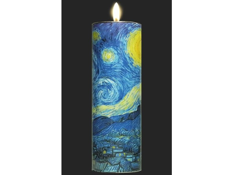Mouseion Cylindrical tea light holder, motif Starry Night by Vincent Van Gogh