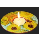 Mouseion Low tea light holder Vincent van Gogh, Sunflowers