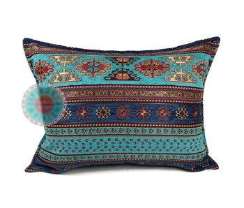 BoHo Cushion cover Peru Turqoise-Blue - 50 x 70
