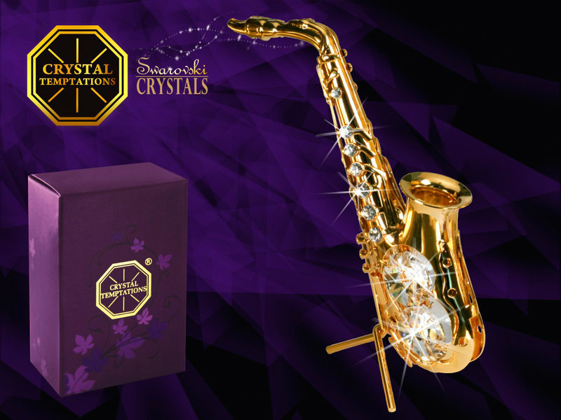 Union Crystal Gold-plated saxophone with Swarovski crystals