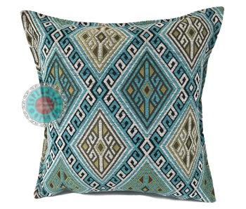 BoHo Kelim cushion cover turquoise - 45 x 45