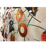 C. Jeré - Artisan House Wall art sculpture, metal wall decoration - Kaleidoscope