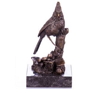 L' Art Bronze Bird on branche bronze