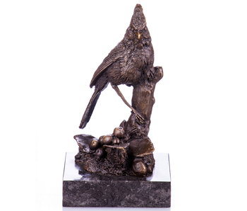 L' Art Bronze Vogel op sokkel - brons