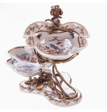 Etagere - porcelain and bronze - flower branch