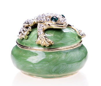 Pillendose Frosch - rund