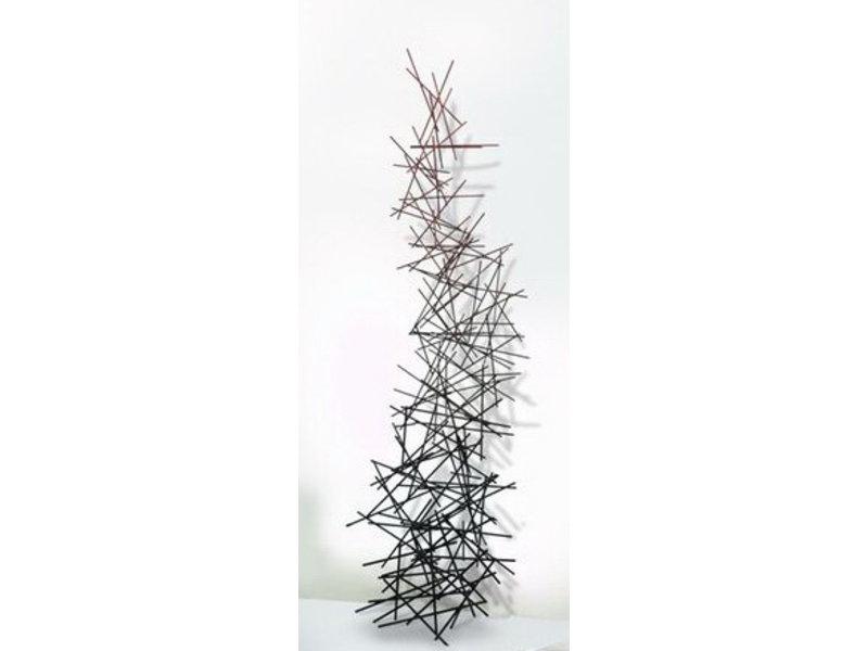 C. Jeré - Artisan House Trapezoid shaped art object made of metal sticks