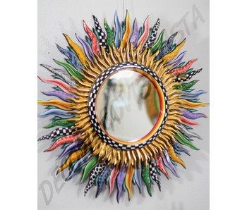 Toms Drag Mirror Flames, round mirror