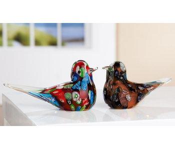 Vogelpaar van glas