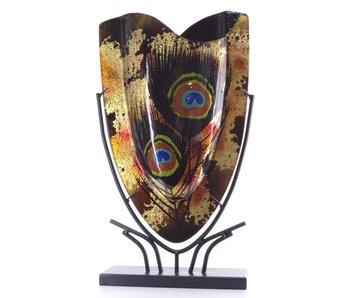 Vase Golden-Peacock-  L
