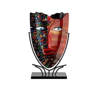 Vase Red Face