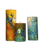 Mouseion Three holders for tea lights with Vincent van Gogh illustrations
