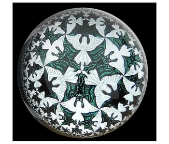 Mouseion Paperweight  Heaven and Hell  - M.C. Escher
