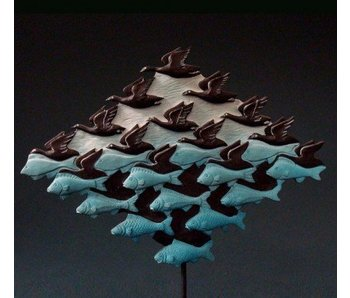 Mouseion Escher beeldje Lucht en Water - driehoek