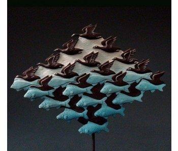 Mouseion Escher Skulptur - Luft und Wasser