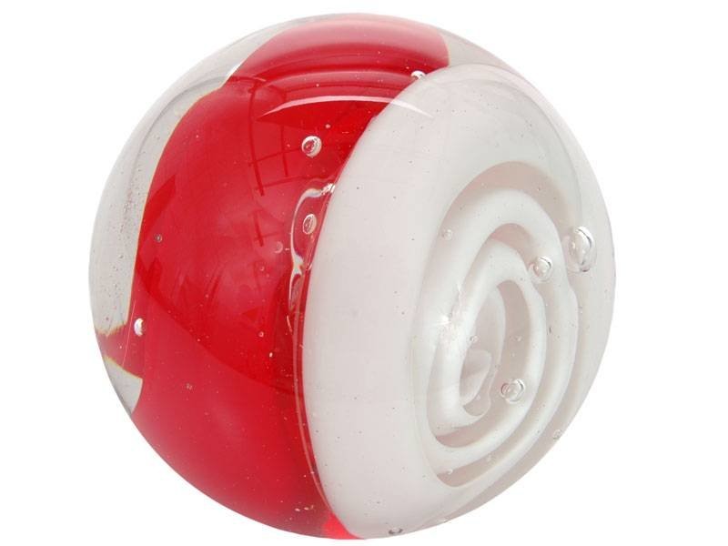 Paperweight - red-white ribbons