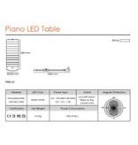 QisDesign Piano - LED table light