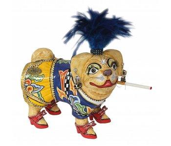 Toms Drag Pug dog, dog figurine Emilie - S