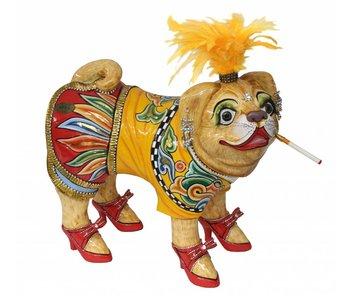 Toms Drag Hund Figur Mops Emilie - L
