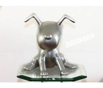Dog Skulptur Silber