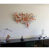 C. Jeré - Artisan House Escultura mural Atracción, decoración mural 3D de metal, C. Jeré - Artisan House