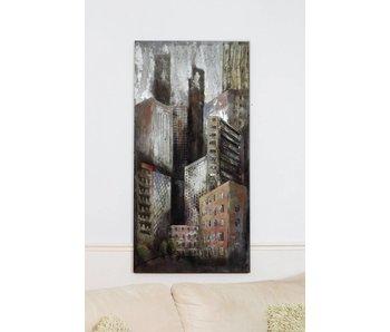 Wanddekoration Skyscrapers 3D Metal