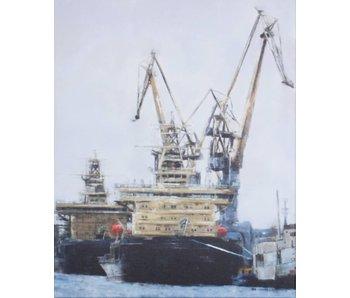 Pintura con dos remolcadores