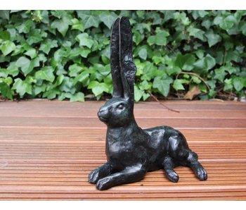 Bronze-Skulptur Hase - grün